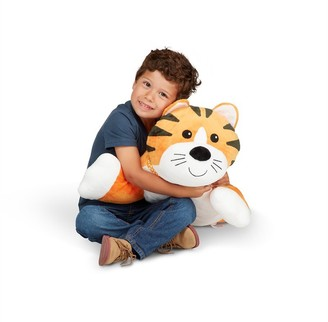 Melissa & Doug Cuddle Tiger Jumbo Plush Stuffed Animal with Activity Card