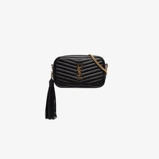 Saint Laurent black Loulou leather shoulder bag
