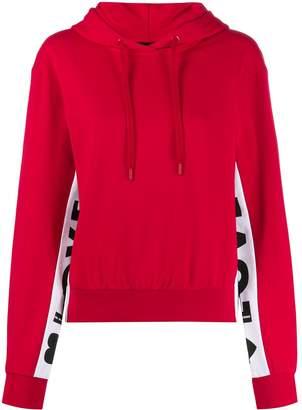 Love Moschino logo stripe hoodie