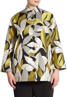 Caroline Rose Caroline Rose, Plus Size A New Leaf Jacquard Jacket