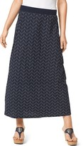 Tommy Hilfiger Chevron Maxi Skirt