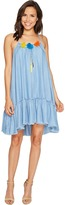Romeo & Juliet Couture Chambray Tassle with Raw Hem Dress