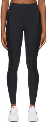 Nike Black Infinalon Ruffled Leggings
