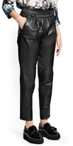 MANGO Leather baggy trousers
