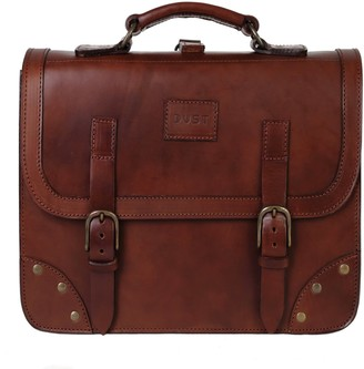 The Dust Company Mod 101 Briefcase in Cuoio Havana
