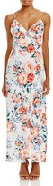 MinkPink Little Blooms Printed Wrap Effect Maxi Dress