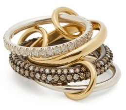 Spinelli Kilcollin Vega Ccw 18kt Gold, Sterling Silver & Diamond Ring - Gold
