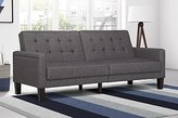 DHP Paris Futon with independently encased coils, Grey