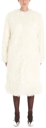 Givenchy Belted Shearling Fur Coat