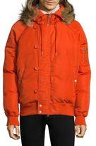 Ovadia & Sons Fur-Trim Down Snorkel Jacket