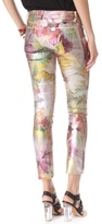 Juicy Couture Tropical Floral Coated Jeans