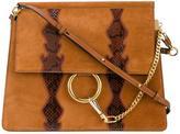 Chloé Brown Snake Faye Shoulder Bag - women - Calf Leather/Watersnake Skin/Calf Suede - One Size