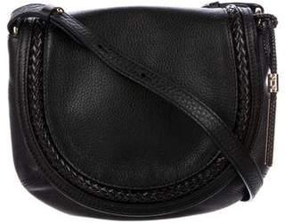 Michael Kors Grained Leather Saddle Bag
