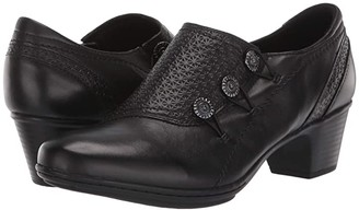 Cobb Hill Kailyn High Vamp (Black) Women's Shoes