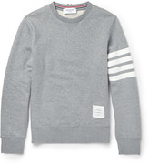 Thom Browne Striped Loopback Cotton-jersey Sweatshirt
