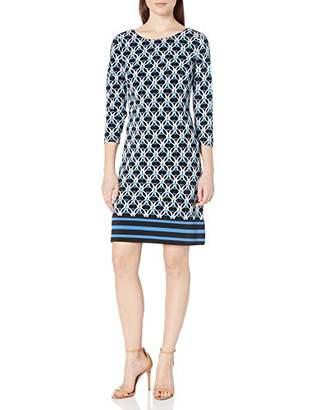 Nine West Women's 3/4 Sleeve Shift Dress