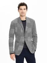 Banana Republic Slim Grey Patchwork Wool Sport Coat