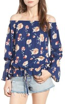 BP Women's Floral Print Off The Shoulder Blouse