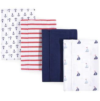 Luvable Friends Unisex Baby Flannel Burp Cloths, One Size