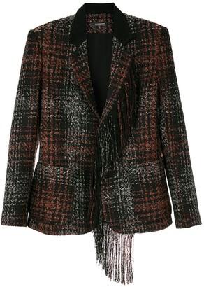 À La Garçonne Fringed Tweed Blazer