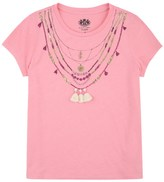 Juicy Couture Girls Knit Necklace Graphic Tee