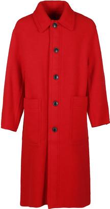 Ami Alexandre Mattiussi Red Wool Coat