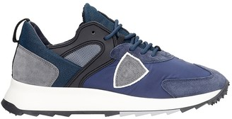 Philippe Model Royale Sneakers In Blue Synthetic Fibers