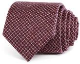 Armani Collezioni Micro Diagonal Plaid Classic Tie