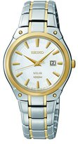 Seiko Women's SUT128 Dress Solar Analog Display Japanese Quartz Two Tone Watch
