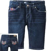 Levi's katy embroidered denim bermuda shorts - girls 7-16