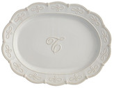 Mud Pie Initial Oval Platter - T