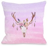 Deer Head Peony Multi Decorative Pillow by OBC