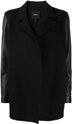 Theory Leather-Look Blazer Jacket