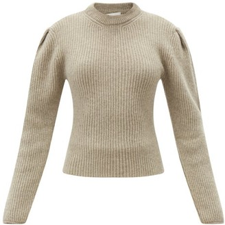 Lemaire Balloon-sleeve Ribbed Wool Sweater - Grey