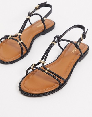 Aldo qilinna flat sandals in black