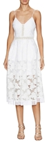 Nicholas Floral Lace Rouleau Dress