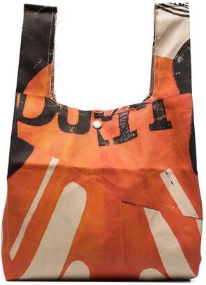 Our Legacy Biker print Grocery Bag tote