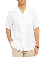 Daniel Cremieux Sonoran Trails Solid Barbados Linen Short-Sleeve Woven Shirt
