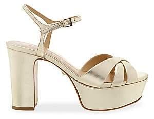 Schutz Women's Keefa Leather Platform Sandals