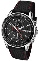 Sekonda 1005.27 Chronograph Rubber Strap Watch, Black