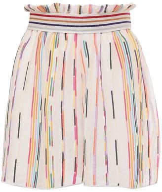 Missoni High Waist Sheer Knit Shorts