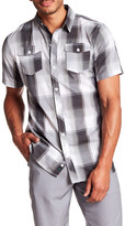 Burnside Short Sleeve Plaid Regular Fit Woven Shirt