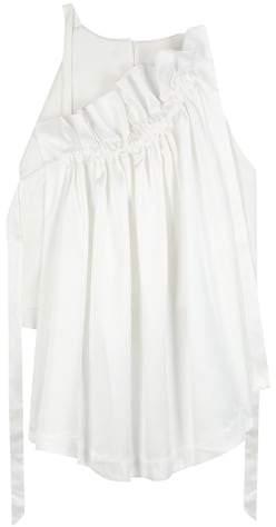 Ellery Colorado ruffled satin blouse