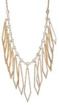 Jessica Simpson Crystal Detail Diamond-Shaped Drop Necklace