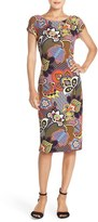 ECI Women's Print Pique Midi Dress