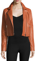Elizabeth and James Gigi Cropped Leather Jacket, Cinnamon