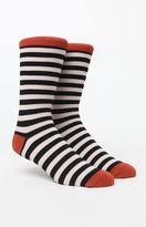 Richer Poorer Theo Striped Black & White Crew Socks
