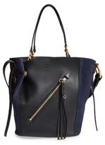 Chloé Medium Myer Calfskin Leather & Suede Tote - Black