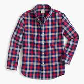 J.Crew Kids' lightweight flannel shirt in navy-and-red plaid