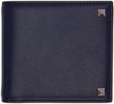 Valentino Navy Big Rockstud Wallet